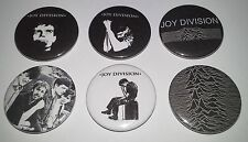 6 Joy Division 25mm punk UK Ian Curtis Love Will Tear Us Apart New Order Wave