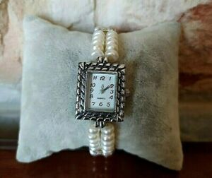 Original Fresh Water Beads Hand Made Wrist Watch Women Gift 8 in Rare.