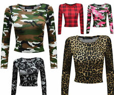 Casual Scoop Neck Cropped Tops & Shirts Plus Size for Women