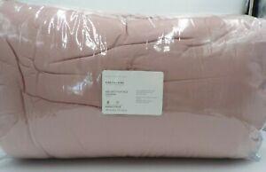 Pottery Barn Velvet Tufted Comforter King Cal King Lush Lofty Soft Blush #8023