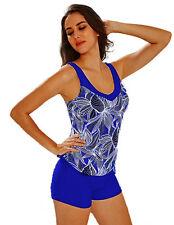 Maillot de bain femme - bikini Tankini Shorty - Bleu roi -  T. 48
