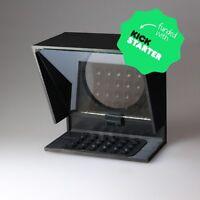 Splitter Glass Mini Teleprompter for iPhone 6 7 8 X Andriod Phone Smartphone