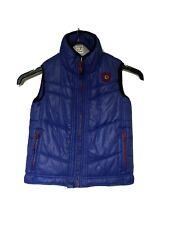 Boys Blue Diesel Gilet Waistcoat Age 7-8 Size S