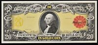 Proof Print or Intaglio by BEP Face of  $20 1905 Gold Certificate  FREE SHIPPING