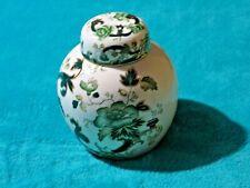 Vintage Mason's Ironstone Green Chartreuse Large Lidded Prunus Ginger Jar