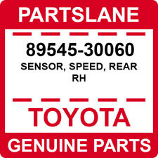 89545-30060 Toyota OEM Genuine SENSOR, SPEED, REAR RH