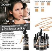 GOSH FOUNDATION DROPS 30ML 2IN1 COVER + CONCEAL NATURAL MEDIUM COVERAGE SPF10