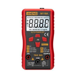 M118A Digital Multimeter True RMS AC/DC Voltage Current Meter NCV Tester