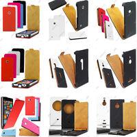 Housse Etui Coque Rabatable Flip PU Cuir Nokia Serie Lumia 930 630 530 520 +Film