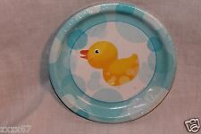 NEW  BABY SHOWER DUCKS 8 DINNER PLATES  PARTY SUPPLIES