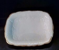 Rare Vintage Lenox Rectangle Gold Trim Candy Dish