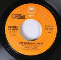 Rock 45 Meat Loaf - For Crying Out Loud / Two Out Of Three Ain'T Bad On Epic 4