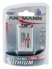 4x Ansmann EXTREME Lithium 9V Block Batterie für Rauchmelder Hochtemperaturzelle