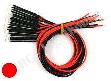 RC LED Light Replacement Lead, 2pc Flashing Red  3mm