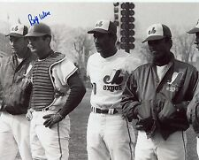 BOBBY WINE  MONTREAL  EXPOS   SIGNED AUTOGRAPHED  8X10  PHOTO