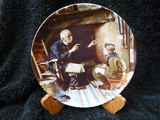 "Norman Rockwell Collector Plate ""The Veteran"" with Authenticity Certificate"