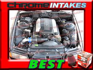 K&N+BLUE RED 93 94 95 97-01 BMW 740 740i 740iL i iL M60/M62/E38 AIR INTAKE KIT