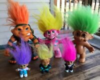 Treasure Trolls Dolls Russ Vintage Troll Doll Toy Lot 1990s