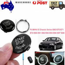 For BMW ESeries E60 E70/71 E90 Black Engine Start Button Switches Replace kit AU