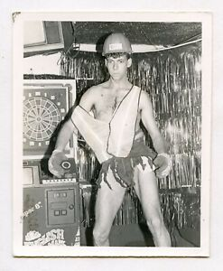 # 26 VINTAGE PHOTO UNDERWEAR DANCING BOY CONSTRUCTION WORKER MAN SNAPSHOT GAY