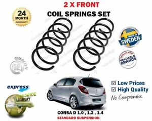 FOR VAUXHALL OPEL CORSA D + VAN 1.0 1.2 1.4  2006->NEW 2X FRONT COIL SPRINGS SET