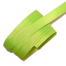 "5 yards Lime green 3/8"" grosgrain ribbon by the yard DIY hair bows"