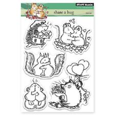 PENNY BLACK RUBBER STAMPS CLEAR SHARE A HUG NEW clear STAMP SET