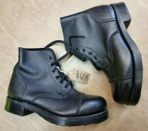 British Army Issue Black Leather Parade Ammo Studded Boots 9L UK #459