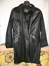 "VESTE longue "" SERGE HERVET ""  T- 40 CUIR TBEG LEATHER JACKET"