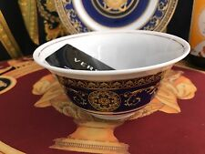 VERSACE MEDUSA BLUE RICE SOUP SALAD BOWL PLATE DISH ROSENTHAL NEW SALE RARE