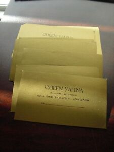 Lot of 26 Vintage Original Queen Yahna Personal Business Cards