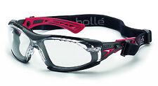 Gafas + equipo máscara RUSHPPSI + RUSHKITFS Bollé Safety Rush+ goggles PLATINO