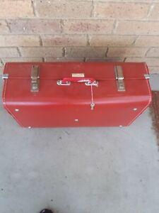 vintage suitcase red
