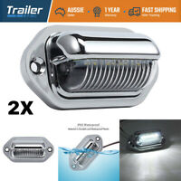 2Pc LED LICENSE NUMBER PLATE LIGHT LAMP TRUCK CARAVAN TRAILER BOAT 10-30V VAN UT
