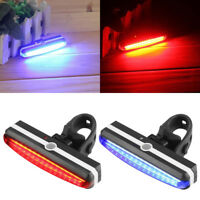 USB Rechargeable LED Bike Bicycle Front Rear Tail Light Headlight Lamp Bright