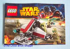 Lego Star Wars 75035 Kashyyyk Troopers-Manuel d'instructions uniquement-no lego