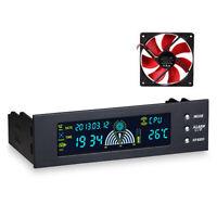 Eg _ 5.25'' PC Ordinateur Panneau avant LCD Refroidissement Ventilateur Vitesse