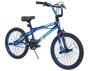 "Genesis 20"" BMX Bike Freestyle Bicycle for Boys Blue Chrome, Steel Frame NEW"