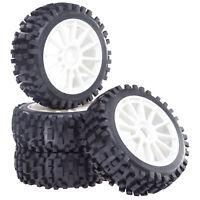 Buggy Reifen Felgenset Attack mit 10-Speichenfelge weiß 1:8 4 Stück partCore 320