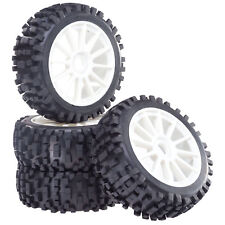 Buggy Tyre Wheels Set Attack With 10-Speichenfelge White 1:8 4 Pcs partCore 320