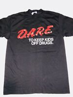Vintage 80s D.A.R.E To Keep Kids off Drugs DARE T Shirt M/L Jack Nadel