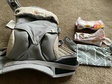 Ergobaby Four Position 360 Baby Carrier Gray with 3 handmade accessories