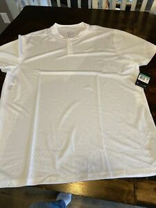 Nike  Court DriFIT Men's Tennis Polo Shirt AQ7732 100 White Reg Fit Size X-LARGE