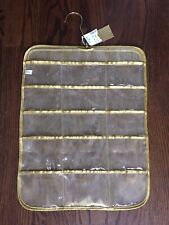 NWT Hanging Jewelry Organizer 30 Pockets (Front & Back) Labeled Steinmart