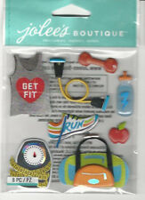 Jolee's GET FIT 3D Stickers sports run scales jump fitness