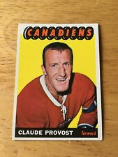 Topps Hockey 1965-66  Claude Provost  Montreal Canadiens  card # 8