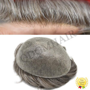 Super Thin Skin Mens Toupee Hairpiece Invisible Poly PU Hair Systems Replacement