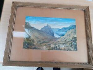 Watercolour Painting 1919 Highlands of Scotland, Glen Urquhart, Inverness,