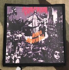 Terrorizer World Downfall Printed Patch T015P Morbid Angel Repulsion Exhumed