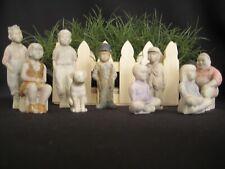 Antique 1920's Little Rascals Bisque Paintable Figurines Our Gang 9 Pieces